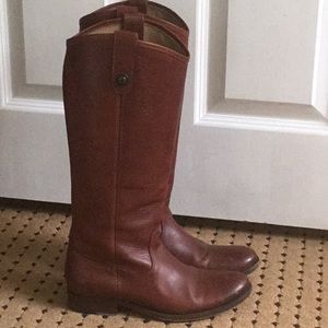 Frye Tall Brown Leather Boots